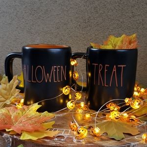 New Rae Dunn Halloween Trick Treat Mug Set
